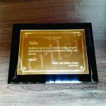 Placa de homenagem em acrílico sp