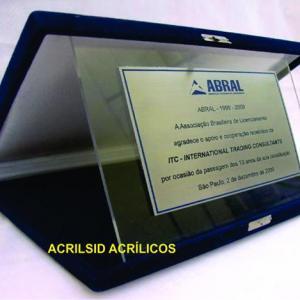 Placa Acrílico + Aço